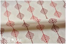 Pine twig on offwhite