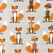 Fox and The Houndstooth Foxes Grey