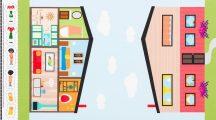 Let's Play House Dollhouse Panel Blue
