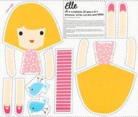 Girl Friends Doll Panel Elle