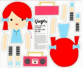 Girl Friends Doll Panel Ginger