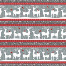 Alpine Reindeer Stripe Grey