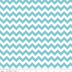 Small Chevron Aqua