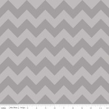 Medium Chevron Tone on Tone Gray