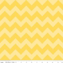 Medium Chevron Tone on Tone Yellow