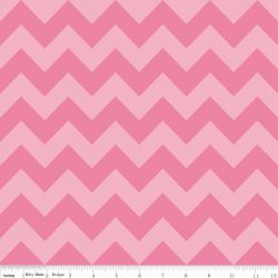 Medium Chevron Tone on Tone Hot Pink