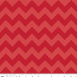 Medium Chevron Tone on Tone Red