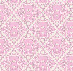 Teddy Bear Picnic Damask Pink