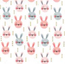 Glitter Critters Ruminating Rabbits Peach