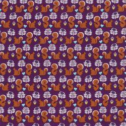 Fox Woods Squirrels Purple