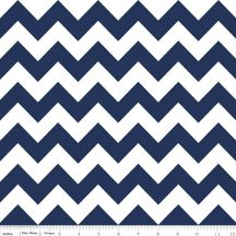 Medium Chevron Navy Flannel