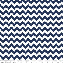 Small Chevron Navy flanel