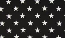 Fekete alapon nagy csillagok - puplin