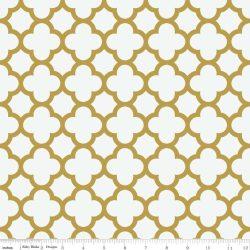 Sparkle Quatrefoil Gold