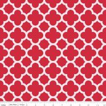 Sparkle Red Quatrefoil - csillogó