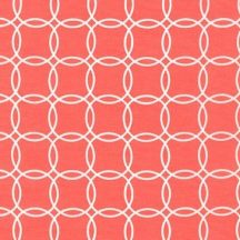 Metro Living Interlocking Circles Coral