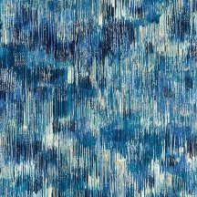 Fusions - Brushwork metallic indigo