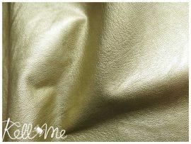 Metálfényes vékony textilbőr - arany