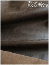 Koptatott bőr hatású textilbőr - barna