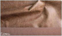 Koptatott bőr hatású textilbőr - konyak