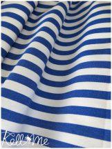 Kültéri kék-fehér csíkos vászon