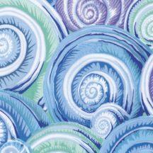 Philip Jacobs - Fall 2016 - Spiral Shells - Sky Blue
