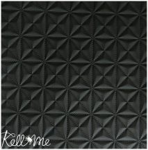 Textibőr - 3D-s matt fekete