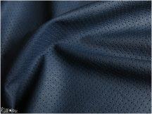 Vékony textilbőr - lukacsos, enyhén rugalmas, matrózkék 135 cm széles