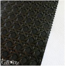 Textilbőr - szövött sötét csokibarna